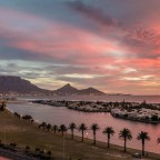 Spectacular sunset over Cape Town