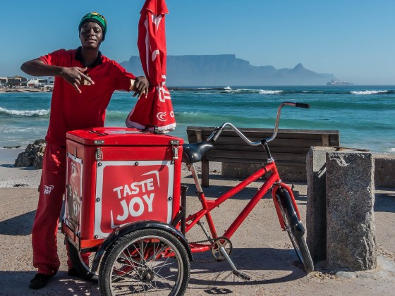 Icecream seller at Bloubergstrand