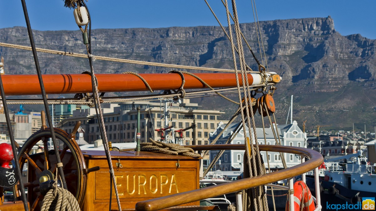 """The sailship """"Europa"""" at the V&A Waterfront"""