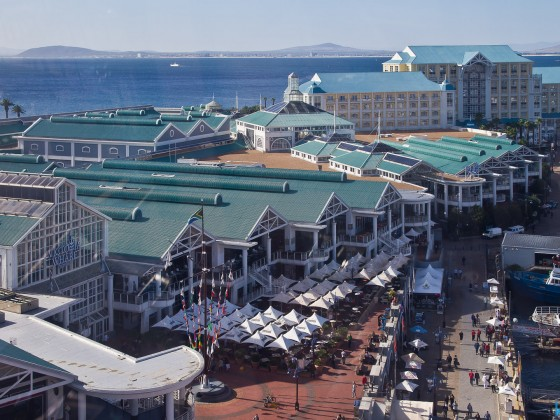 V&A Waterfront seen from the Big Wheel