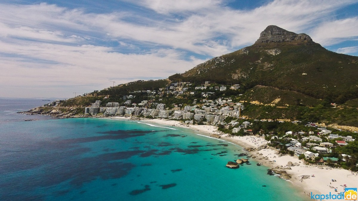 Aerial image from Clifton and its 4th beach