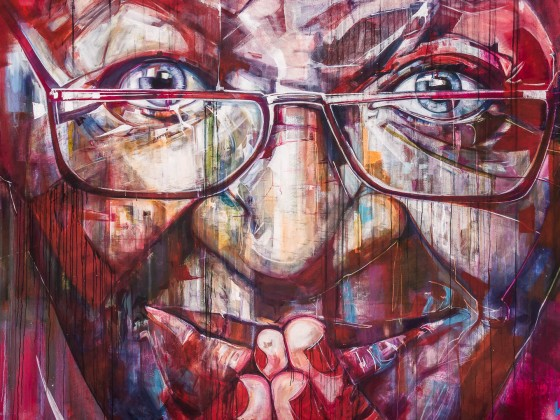 Desmond Tutu graffiti in the City Bowl of Cape Town