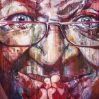 Desmond Tutu graffiti in the City Bowl of Cape Town