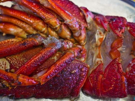 Lobster at Kalky's Restaurant in Kalk Bay