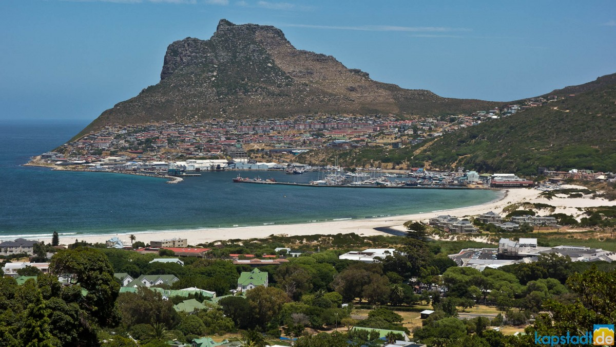 Hout Bay harbour from Balauvilla
