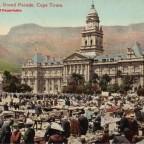 Postkarte Markttag auf der Grand Parade gelaufen 1904 nach Durban