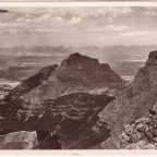 Postkarte Tabel mountain Devils Peak Hottentots Mountains 1938