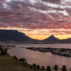 Sunset over Woodbridge Island and the Milnerton Lagoon