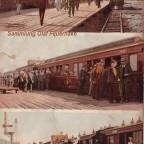 Postkarte Kapstadt Bahnhof gelaufen1903