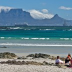 Table Mountain from Bloubergstrand (South Easter blowing)