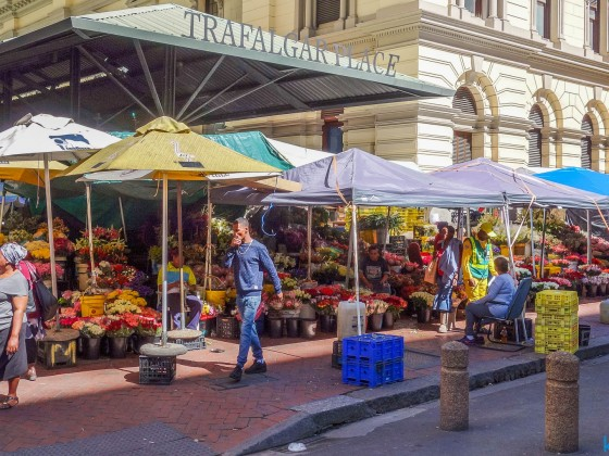 Trafalgar Place (Flower Market) in Cape Town