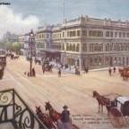Postkarte Railway Station um 1900