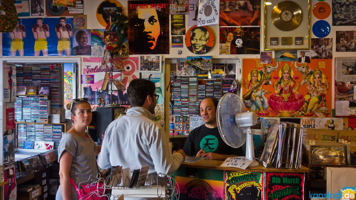 Vinyl record shop in Kloof Street