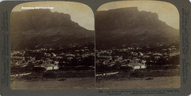 Postkarte CapeTown Stereo-Bild 1902