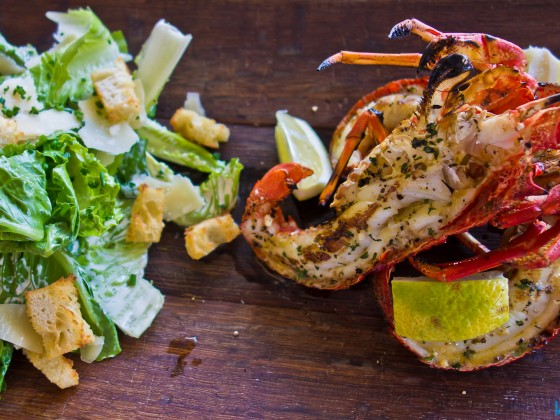 Lobster at the Cape Point Vineyards restaurant