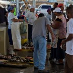 Selling fresh fish at Kalk Bay harbour