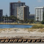 Milnerton Lagoon with old shipwreck