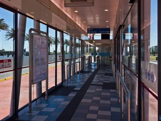 "MyCiti bus stop at ""Woodbridge"" in Milnerton"