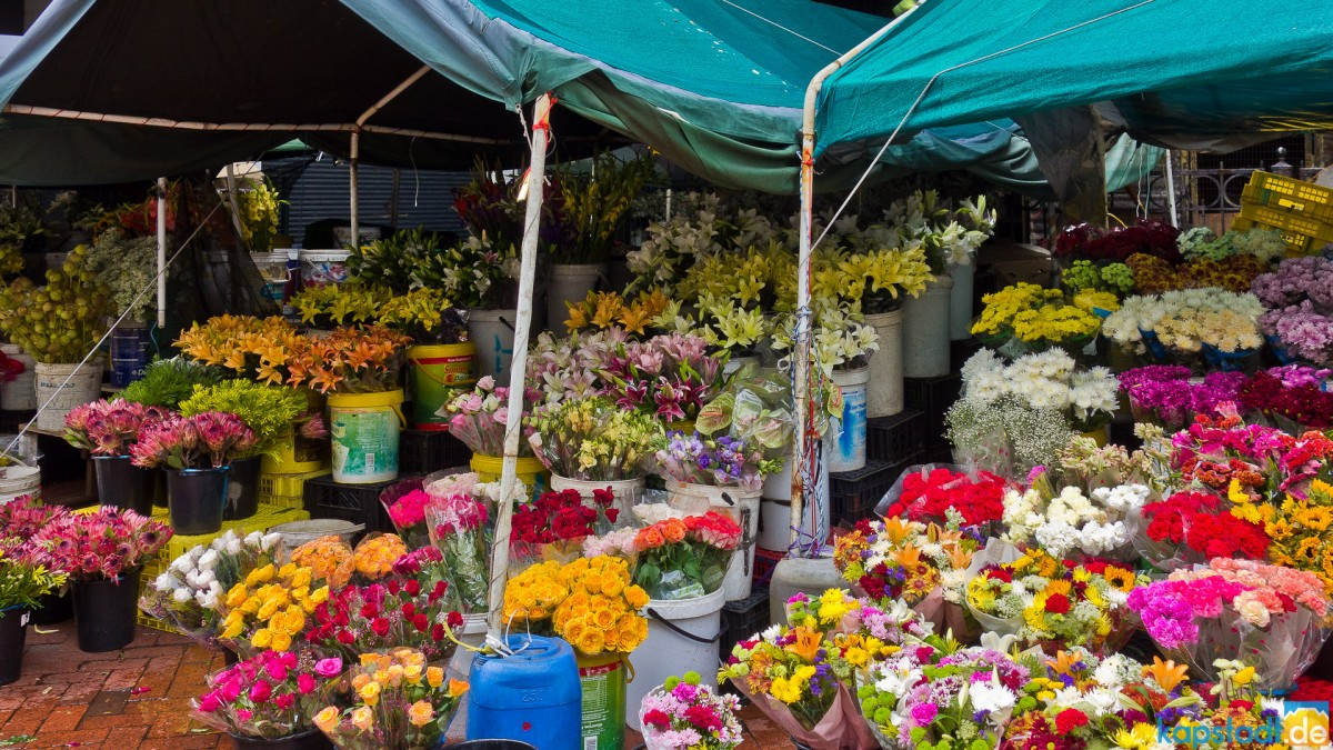Flower Market in Adderley Street