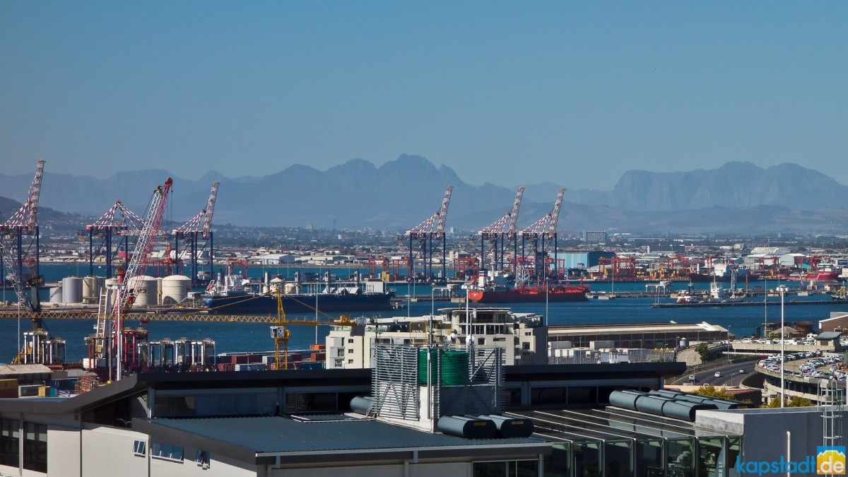 Cape Town commercial harbour from De Waterkant
