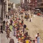 Postkarte Flower Sellers gelaufen 1926 nach Dresden