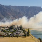 Veld Fire near the Milnerton Lagoon