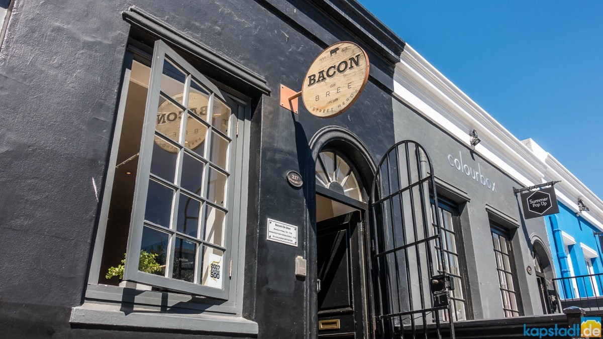 Bacon on Bree Restaurant in Bree Street in Cape Town