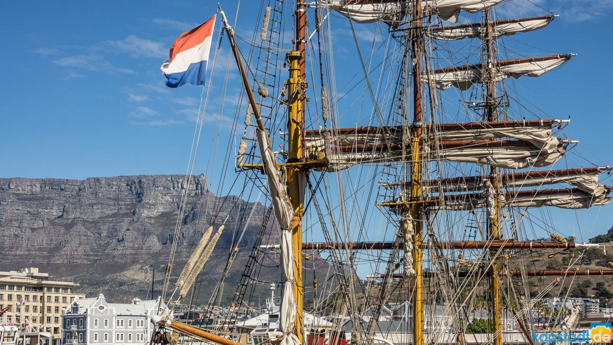 Bark Europa - dutch sailship in Cape Town