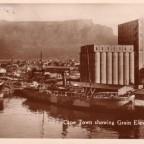 Postkarte Cape Town showing Grain Elevator gelaufen 1931 nach Prag