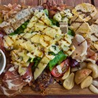 Mixed platter while having a wine tasting at Blaauwklippen Wine Estate