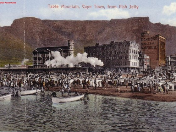 Postkarte Table Mountain from Fish Jetty ca 1900