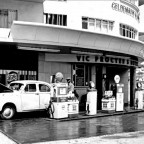 Service station, Three Anchor Bay c1958