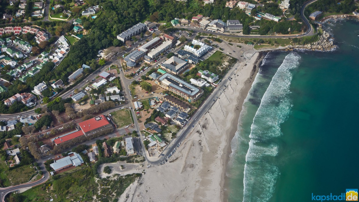 Helicopter flight: Hout Bay beach