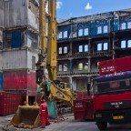 Demolition of an old building to make space for a new one