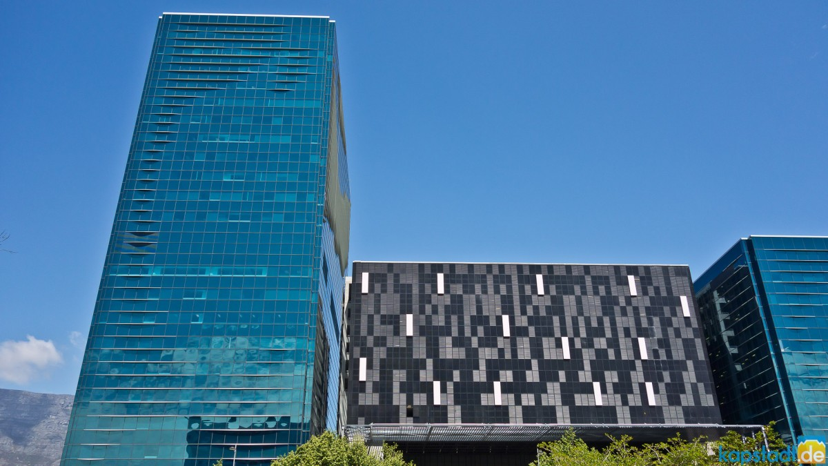Office buildings in Cape Town downtown