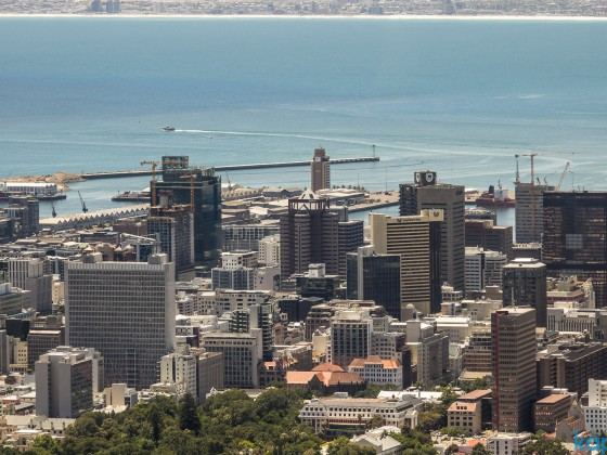 On top of Table Mountain - City Bowl