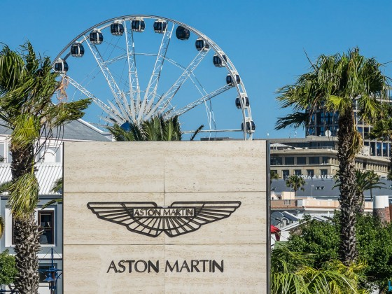 Astin Martin and Big Wheel at the V&A Waterfront