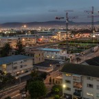 Center Point Mall in Milnerton construction at night