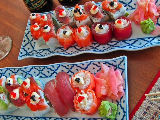 Sushi in the Canal Walk Mall / Milnerton