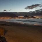 Milnerton beach and Table Mountain