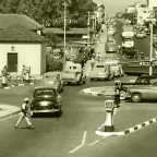 Traffic circle, Voortrekker road, 1951
