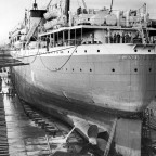 Carnarvon Castle in the Sturrock dry dock 1950