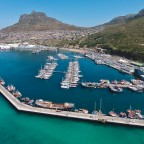 Aerial drone image of Hout Bay Harbour and the Marina