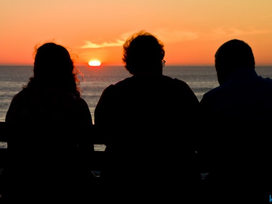Sunset at the Milnerton beach front