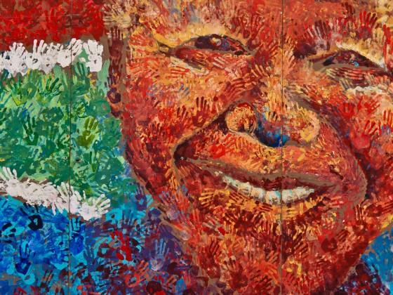 Nelson Mandela wall art