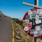 Traffic sign on the road to the outlook of Signal Hill